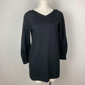 Zara Trafaluc Black Tunic Mini Dress Knit L/Sleeve